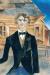 1914, Marc Chagall : Autoportrait devant la maison