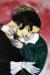 1916, Marc Chagall : Les amoureux en rose