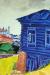 1917, Marc Chagall : La maison bleue