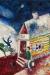 1925, Marc Chagall : La calèche volante (version 2)
