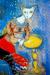 1928-29, Marc Chagall : La chatte metamorphosée en femme