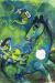 1943, Marc Chagall : Le cheval à la lune