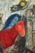 1947, Marc Chagall : Autoportrait à la pendule