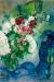 1949, Marc Chagall : Bouquet blanc aux nuages ou L'âne lisant ou Le livre et l'âne ou Musicien aux fleurs et aux fruits