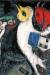 1951, Marc Chagall : Les amoureux au poteau