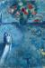 1980, Marc Chagall : Les mariés au bord de la Seine
