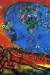 1983, Marc Chagall : Couple sur fond rouge