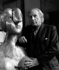 1944, Herbert List : Picasso dans son atelier, Rue des Grands Augustins, à Paris