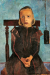 1900, Paula Modersohn-Becker : Jeune Fille au Poids d'Horloge