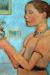 1902, Paula Modersohn-Becker : Jeune f ille tenant des fleurs jaunes dans un verre