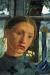 1902, Paula Modersohn-Becker : Madchenkopf vor einem Fenster