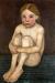 1904, Paula Modersohn-Becker : Petite fille nue assise, jambes repliées I (Elsbeth Modersohn)
