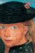 1904, Paula Modersohn-Becker : Tête d'une jeune fille blonde coiffée d'un chapeau de paille