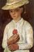 1905, Paula Modersohn-Becker : Autoportrait avec rose