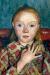 1905, Paula Modersohn-Becker : Portrait de jeune fille les doigts écartés devant la poitrine