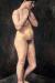 1905, Paula Modersohn-Becker : Stehender weiblicher Akt die Arme vor die Brust gelegt