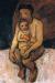 1906, Paula Modersohn-Becker : Mère assise, son enfant sur les genoux