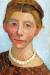 1906, Paula Modersohn-Becker : Selbstbildnis mit weiser Perlenkette