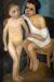 1906, Paula Modersohn-Becker : Sitzendes Madchen in weisem Hemde und stehender Madchenakt