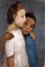 1906, Paula Modersohn-Becker : Zwei Madchen in weissem und blauem Kleid sich an der Schulter umfassend