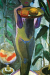 1906-07, Paula Modersohn-Becker : Enfant nu avec un bocal de poissons rouges
