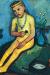 1906-07, Paula Modersohn-Becker : Jeune fille nue assise avec des vases de fleurs