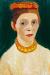 1907, Paula Modersohn-Becker : Autoportrait à la couronne de fleurs rouges
