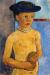 1907, Paula Modersohn-Becker : Halbakt eines Madchens mit schwarzem Hut