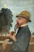 1907, Paula Modersohn-Becker : Otto Modersohn mit Pfeife