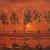 1907-08, Piet Mondrian : Trees on the Gein Moonrise