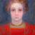 1908, Piet Mondrian : Portrait of a Girl in Red