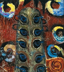 1957-62, Ion Ţuculescu : Păunii privirilor (Perioada totemică)