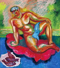 1984, Sandro Chia : Boy with Red Fish